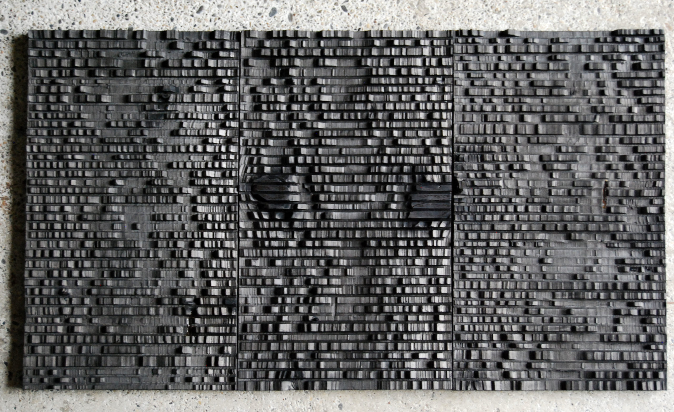 Mireille Fulpius, Sculpture en bronze, triptyque, CHF 3'500.- pièce.