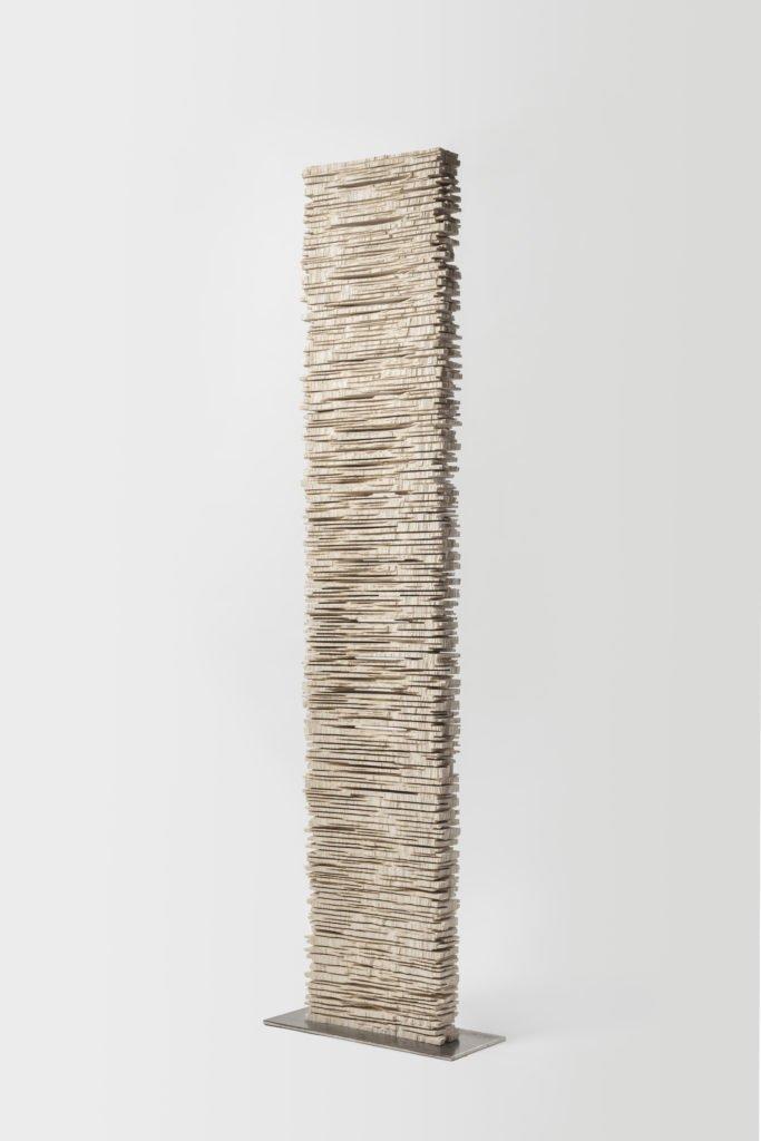 Jérôme Blanc, Hiver I, Frêne, 177 x 35 x 7 cm, CHF 6800.-